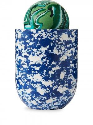 Ароматическая свеча Swirl Ball Tom Dixon. Цвет: синий