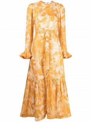 Платье с принтом Zimmermann. Цвет: желтый