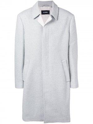 Однобортное пальто в стиле оверсайз Raf Simons. Цвет: серый