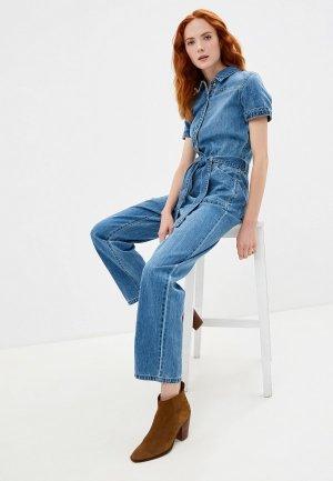 Комбинезон джинсовый Noisy May. Цвет: голубой