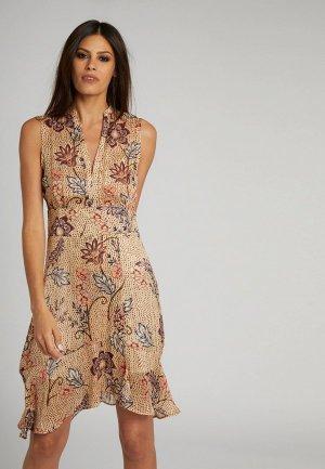 Платье Morgan. Цвет: бежевый