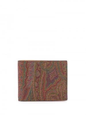 Кошелек с принтом пейсли Etro. Цвет: коричневый