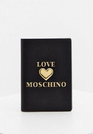 Обложка для паспорта Love Moschino. Цвет: черный