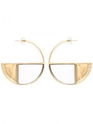 Серьги-кольца Bianca с зеркальцем Aurelie Bidermann. Цвет: металлик