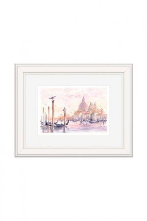Картина Венеция: Чайки OLGA GLAZUNOVA. Цвет: розовый