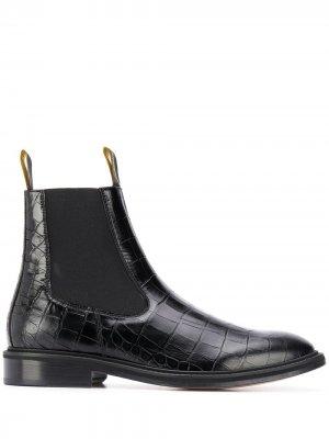 Ботинки челси с тиснением под крокодила LANVIN. Цвет: черный