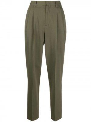 Прямые брюки RED Valentino. Цвет: зеленый