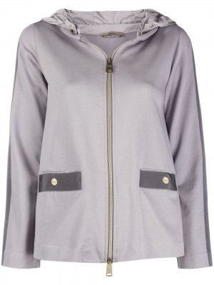 Куртка с капюшоном Herno. Цвет: серый