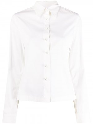 Рубашка с перламутровыми пуговицами Chanel Pre-Owned. Цвет: белый