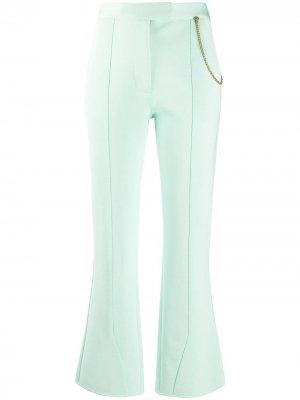 Расклешенные брюки с цепочкой Givenchy. Цвет: зеленый