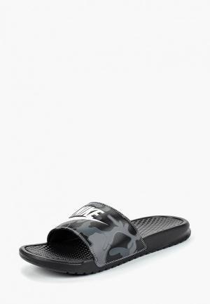 Сланцы Nike. Цвет: черный