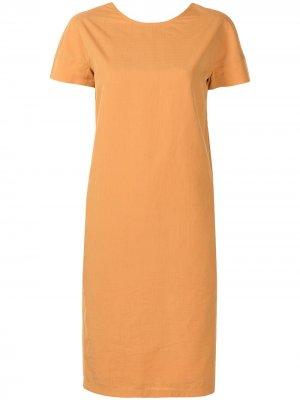 Платье-трапеция pre-owned Hermès. Цвет: оранжевый