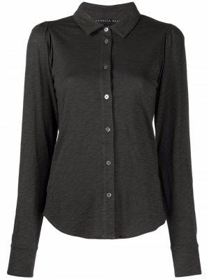 Рубашка Pima на пуговицах Veronica Beard. Цвет: серый