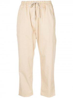 Укороченные брюки с кулиской Nili Lotan. Цвет: коричневый