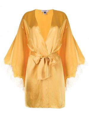 Короткий халат Persephone Gilda & Pearl. Цвет: желтый