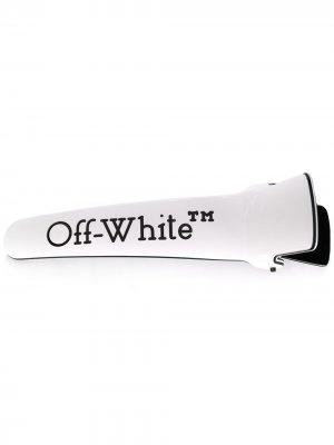 Заколка для волос Off-White. Цвет: белый