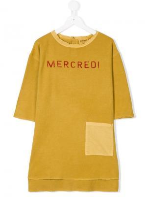 Трикотажное платье Mercredi Bobo Choses. Цвет: желтый