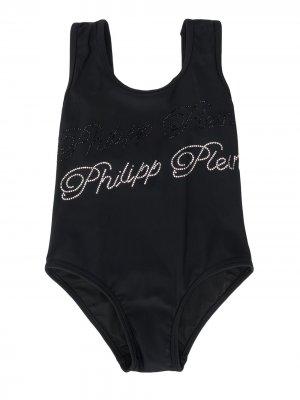 Декорированный купальник Philipp Plein. Цвет: черный