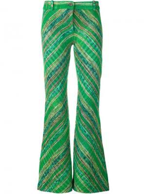 Расклешенные брюки Missoni. Цвет: зеленый