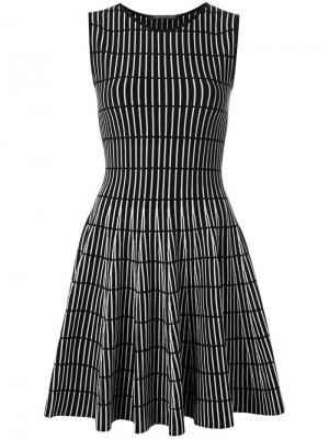 Трикотажное расклешенное платье Antonino Valenti. Цвет: черный