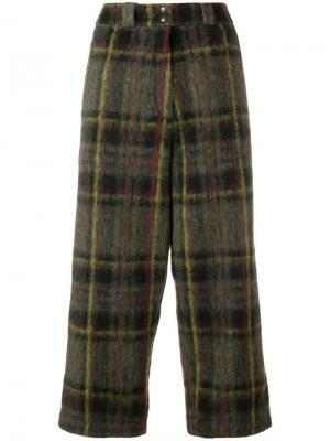Укороченные брюки в шотландскую клетку Marios. Цвет: зеленый