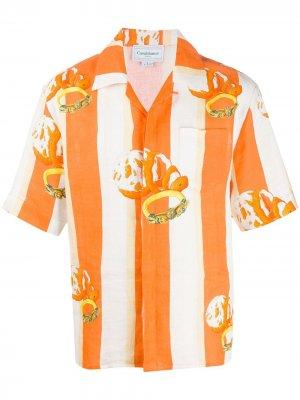 Рубашка с принтом Ocean Resort Casablanca. Цвет: оранжевый