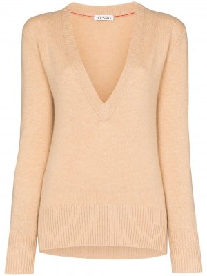 Кашемировый свитер с V-образным вырезом Ply-Knits. Цвет: нейтральные цвета