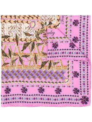 Платок Harmony с цветочным принтом Temperley London. Цвет: розовый