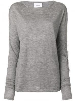 Кашемировый пуловер Sweet Eighteen с круглым вырезом Barrie. Цвет: серый