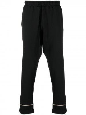 Прямые пижамные брюки Alchemy. Цвет: черный