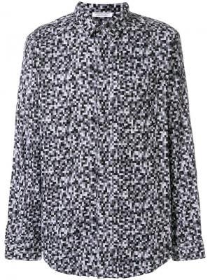 Рубашка с рисунком из пикселей Engineered Garments. Цвет: серый