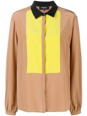 Contrast panel shirt Rochas. Цвет: нейтральные цвета