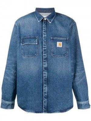 Джинсовая рубашка Salinac с нашивкой-логотипом Carhartt WIP. Цвет: синий