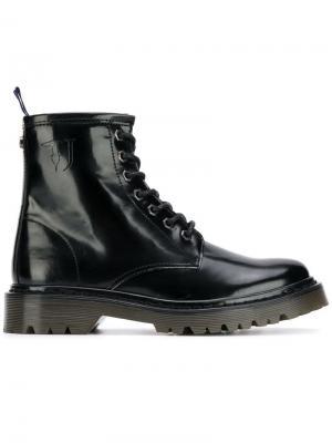 Ботильоны на шнуровке Trussardi Jeans. Цвет: черный