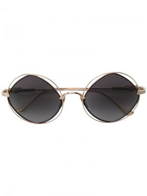 Round frame sunglasses Chrome Hearts. Цвет: металлик
