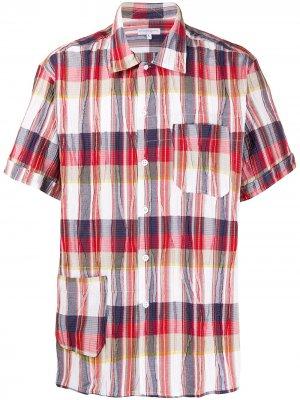 Клетчатая рубашка с короткими рукавами Engineered Garments. Цвет: красный