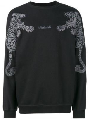 Logo tiger embroidered sweatshirt Maharishi. Цвет: черный