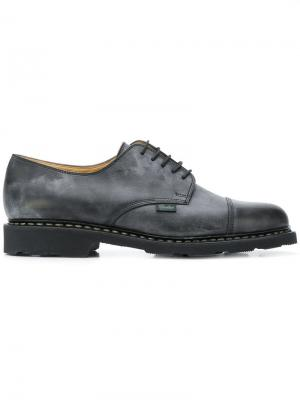 Stained effect lace-up shoes Paraboot. Цвет: черный
