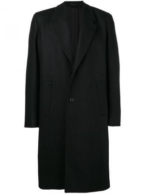 Однобортное пальто Mauro Grifoni. Цвет: черный