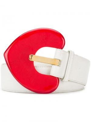 Ремень Heart Yves Saint Laurent Pre-Owned. Цвет: белый