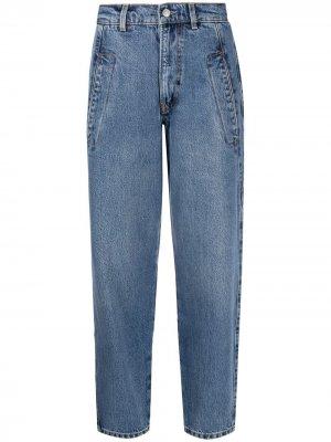 Зауженные джинсы Parker Boyish Jeans. Цвет: синий