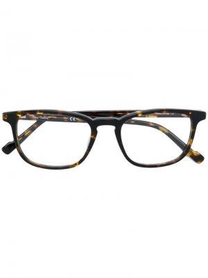Очки в квадратной оправе Pierre Cardin Eyewear. Цвет: коричневый