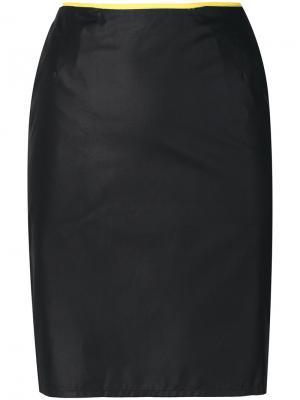 Юбка мини Helmut Lang Vintage. Цвет: черный