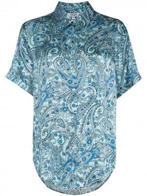 Рубашка Fifi с принтом пейсли Frankies Bikinis. Цвет: синий