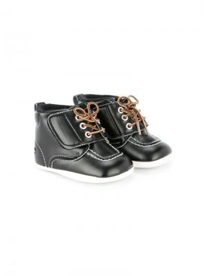 Пинетки на шнуровке Miki House. Цвет: черный