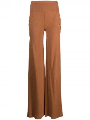 Расклешенные брюки Rick Owens Lilies. Цвет: оранжевый
