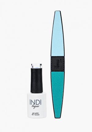 Набор для ухода за ногтями Runail Professional. Цвет: голубой