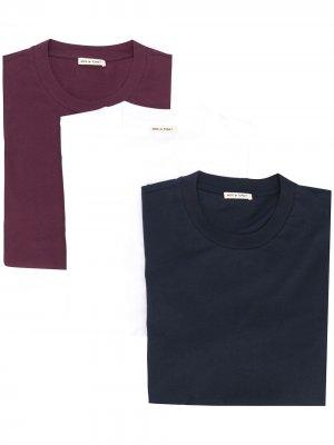Комплект из трех футболок Marni. Цвет: красный