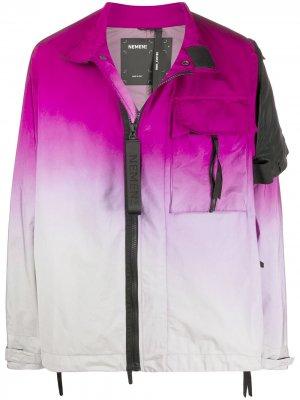 Куртка Zephyr 3L с эффектом градиента Nemen. Цвет: розовый