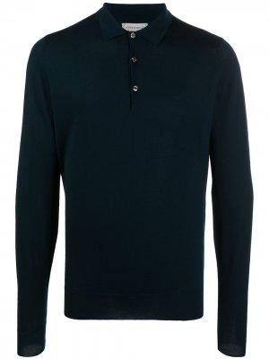 Рубашка поло Belper John Smedley. Цвет: синий